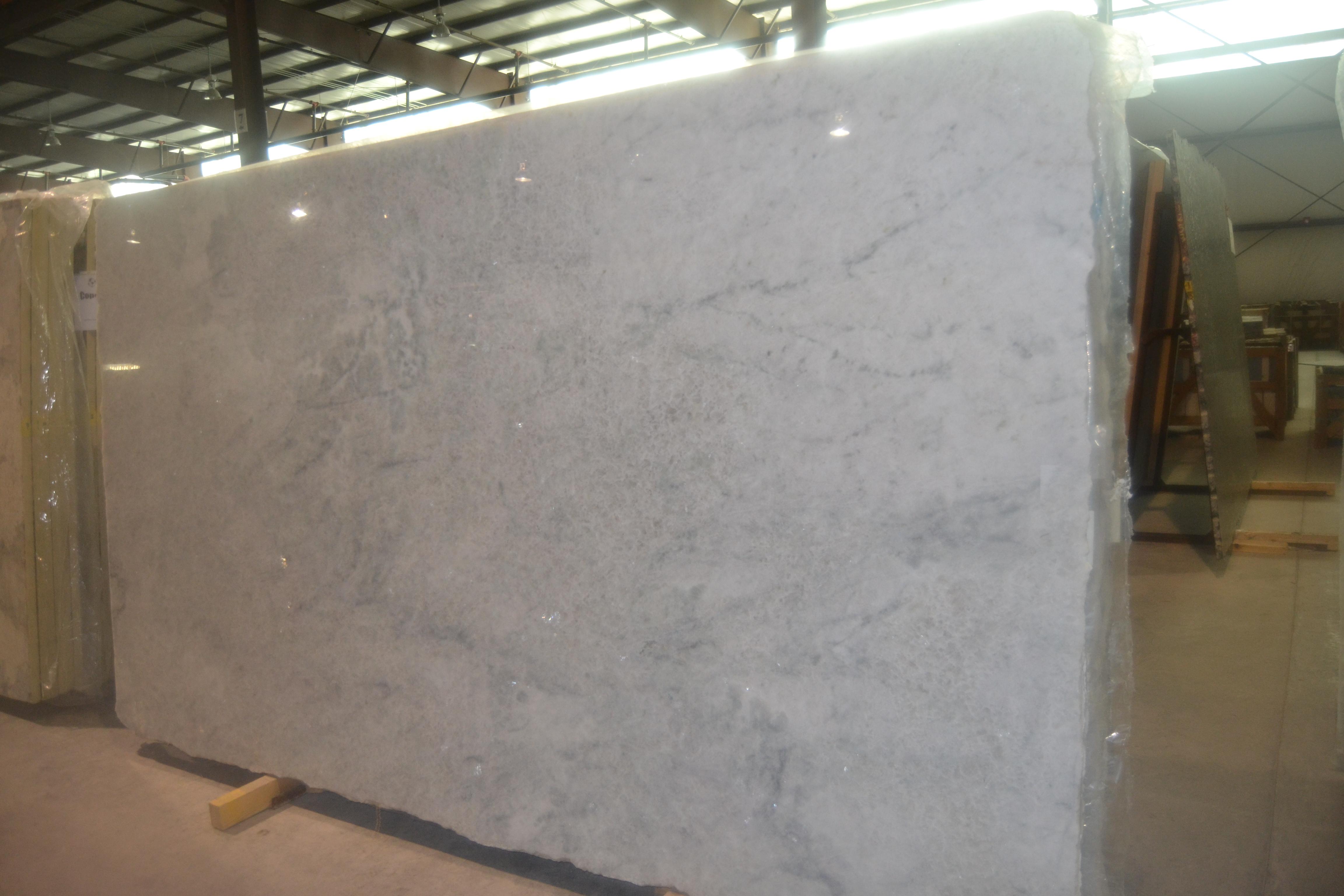 """Product Name: WHITE CRISTALLO 3CMLot #: MARM5819 Avg. size: 113"""" X 65.5"""""""