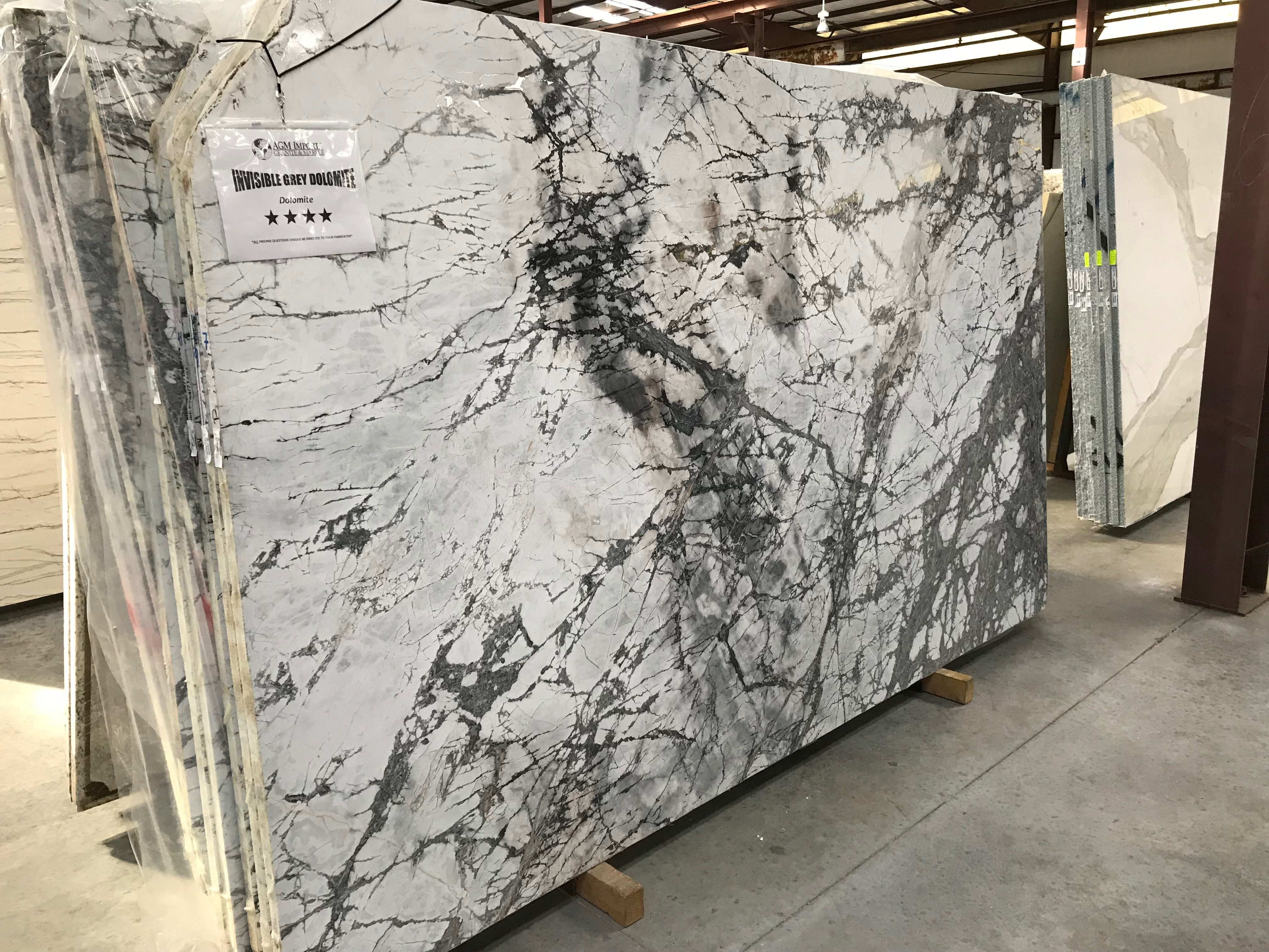 """Product Name: INVISIBLE GREY DOLOMITE 3CMLot #: LUC443 Avg. size: 118"""" X 71"""""""