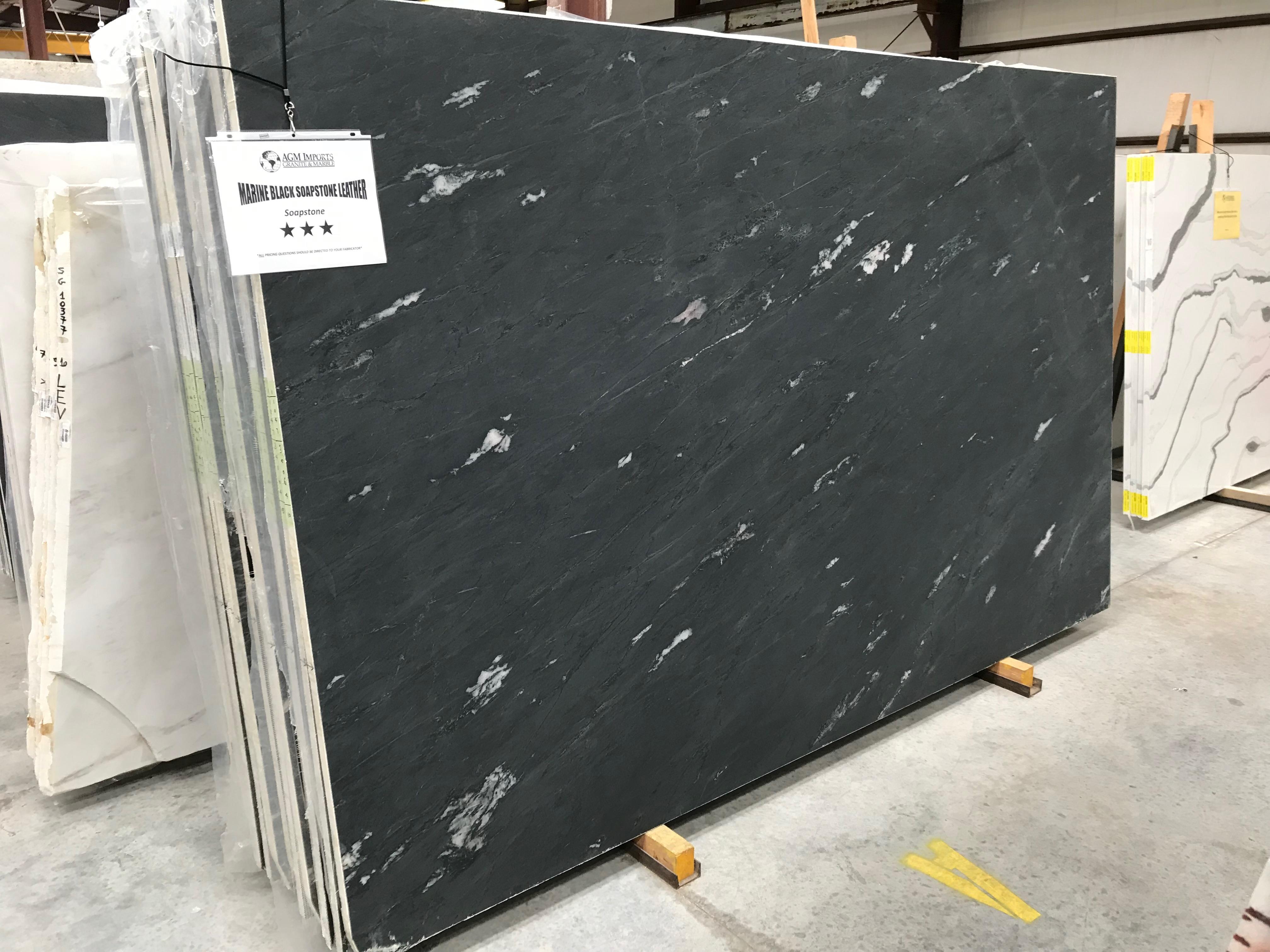 "Product Name: MARINE BLACK SOAPSTONE LEATHER FF 3CMLot #: TAB4064 Avg. size: 112"" X 70"""