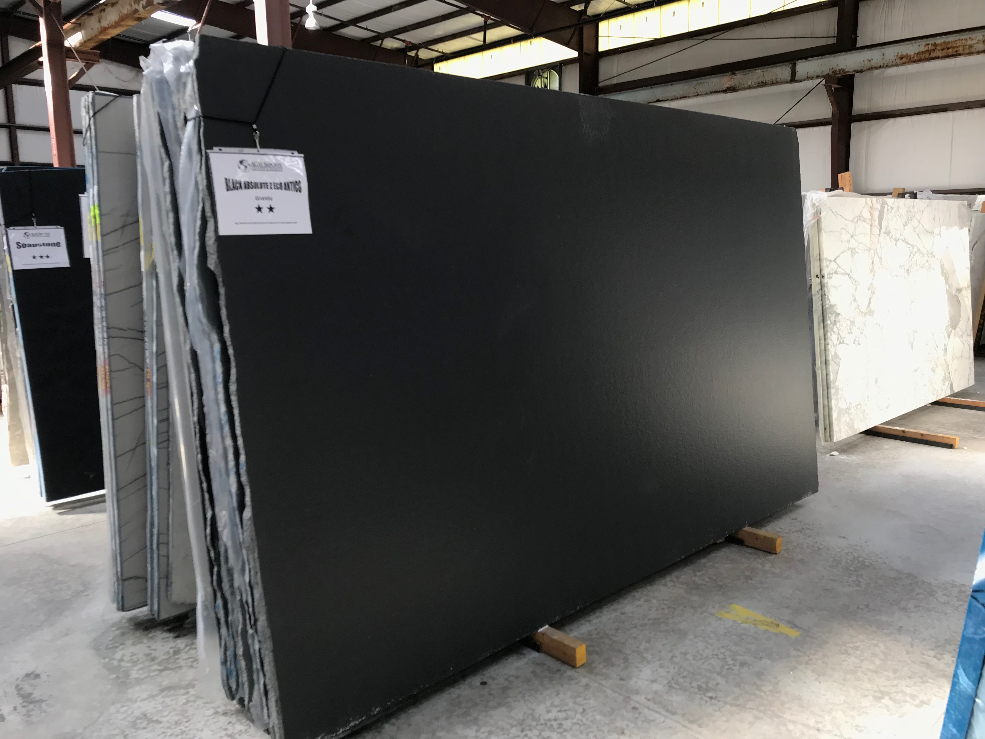 "Product Name: BLACK ABSOLUTE Z ECO ANTICO 3CM   Lot #: ROSS1281    Avg. size: 130"" X 77"""