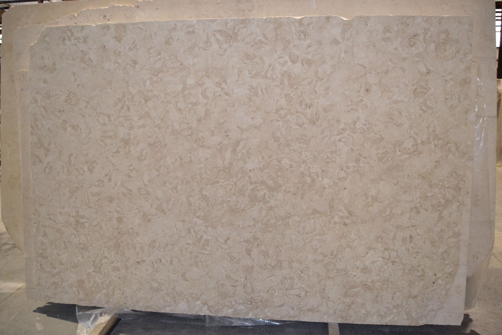 """Product Name: SHELLS REEF BEIGE POLISHED 3CMLot #: MED165 Avg. size: 105"""" X 64"""""""