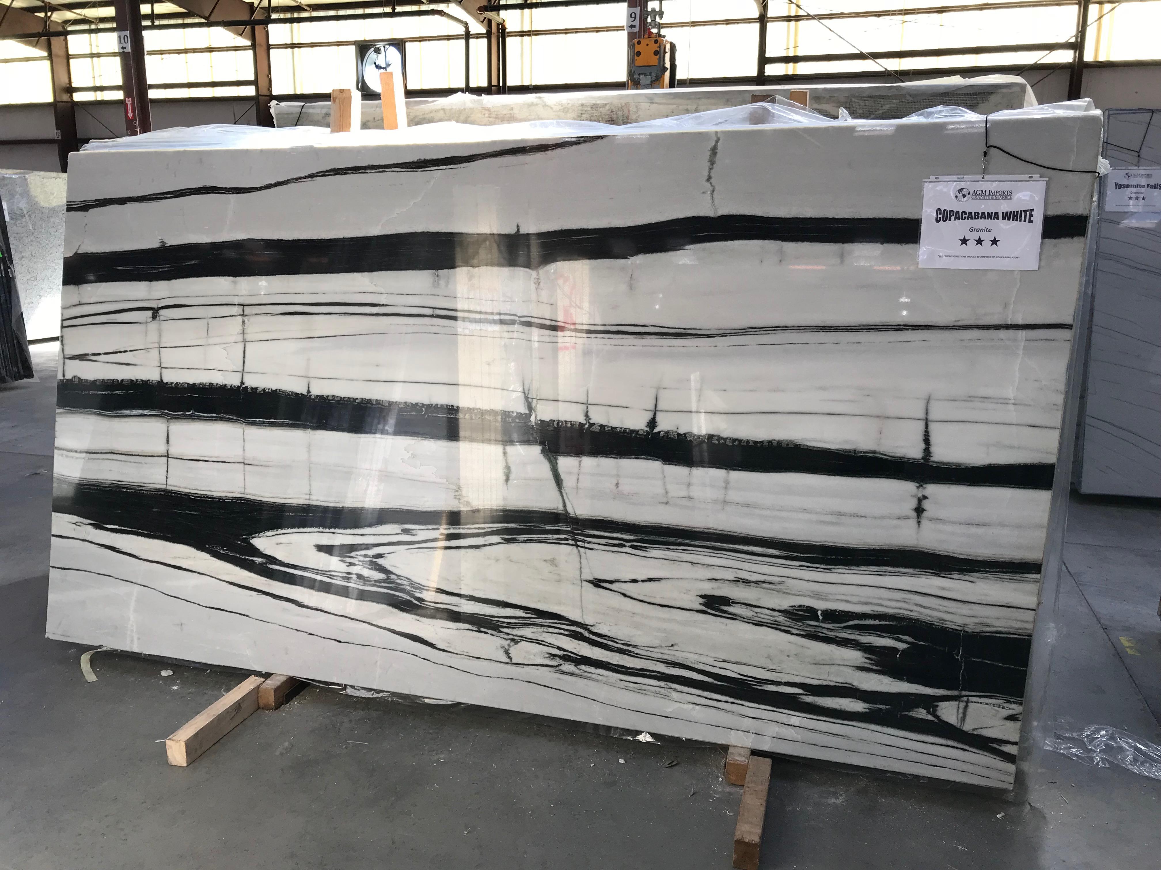 """Product Name: COPACABANA WHITE DOLOMITE 3CMLot #: SANTU845 Avg. size: 120"""" X 65"""""""