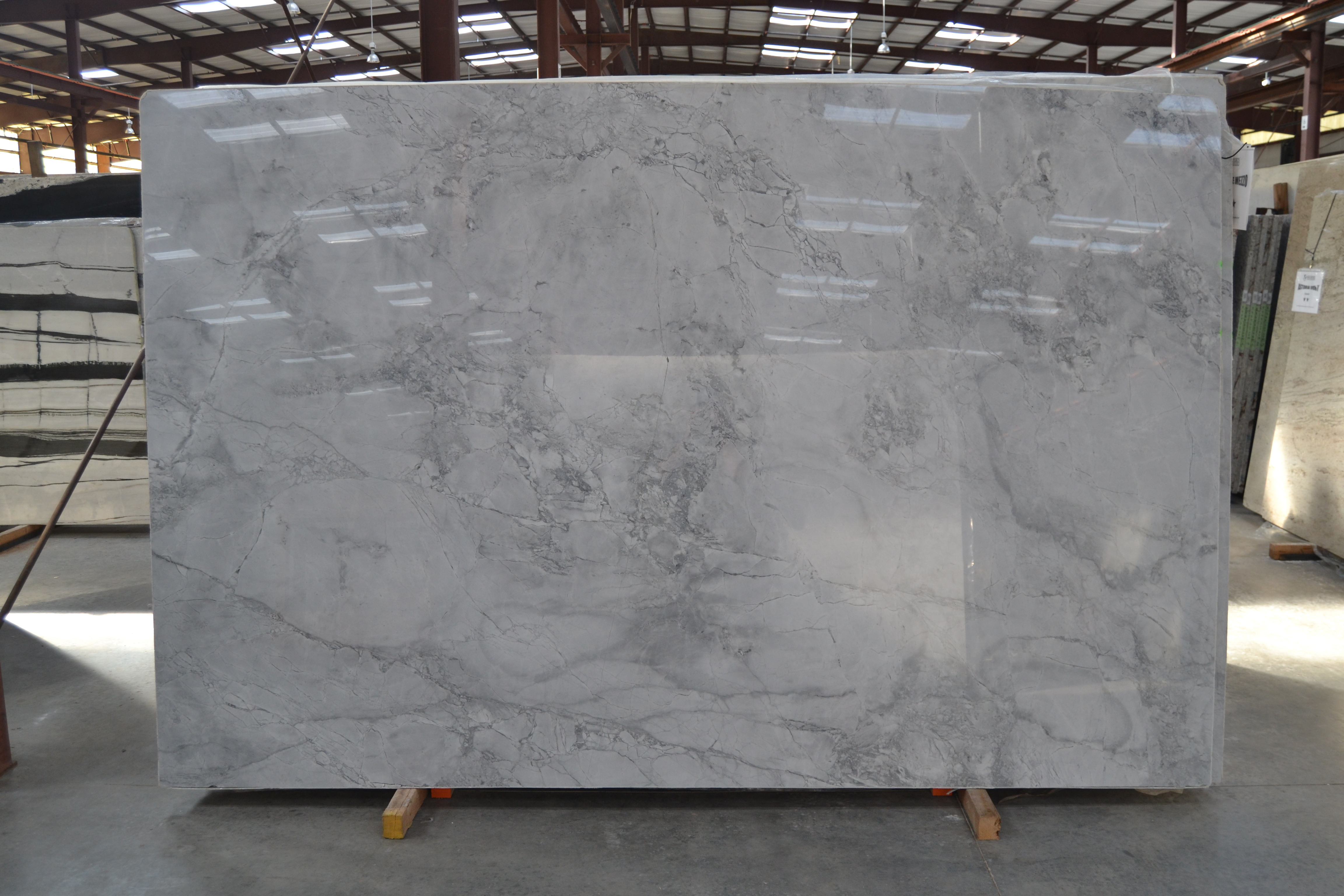 "Product Name: SUPER WHITE MEZZO 3CMLot #: COL0536 Avg. size: 117"" X 75.5"""