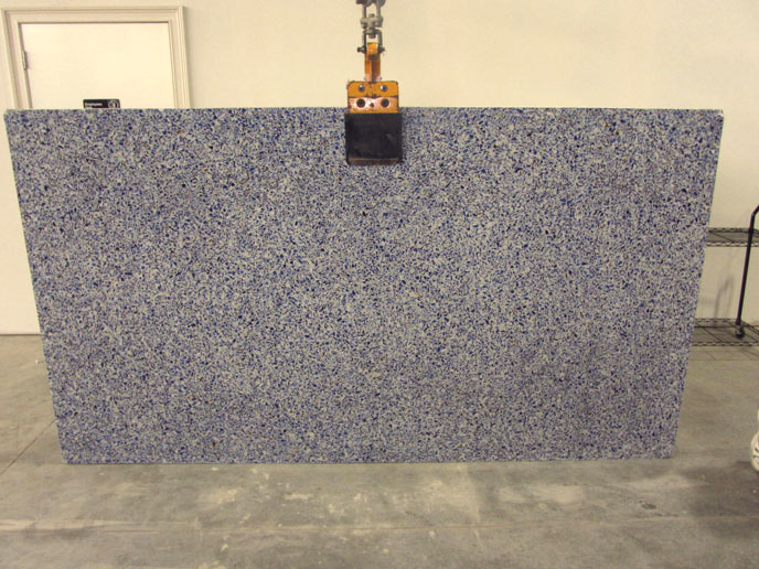 """Product Name: VETRAZZO CHIVALRY BLUE 3CMLot #: POLY614 Avg. size: 107"""" X 59"""""""