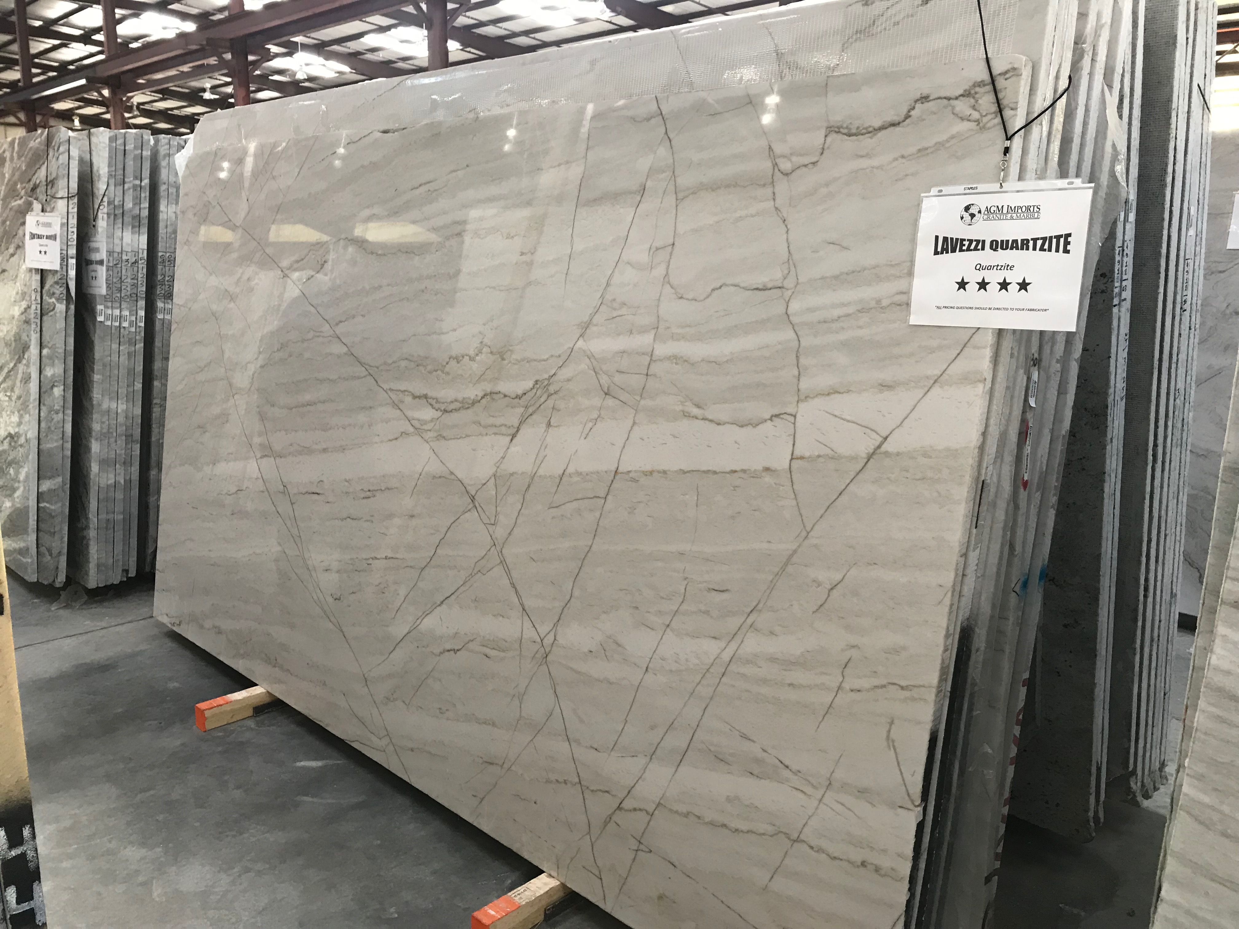 "Product Name: LAVEZZI QUARTZITE 3CM   Lot #: MARM0603    Avg. size: 127"" X 76"""
