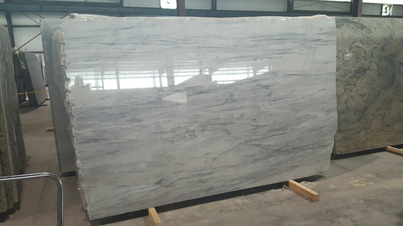 "Product Name: BIANCO ANDES 3CM   Lot #: EXP955    Avg. size: 115"" X 70"""